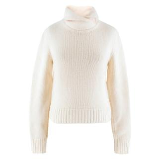Ralph Lauren Collection Cream Cashmere & Wool-blend Jumper