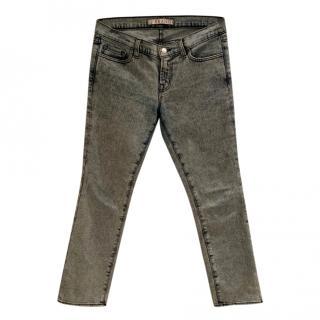 J Brand Acid Wash Cropped Jeans