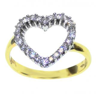 Diamond 0.50ct Outline Heart Ring 18ct Gold