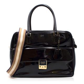 Anya Hindmarch Black Laminated Carker Bag