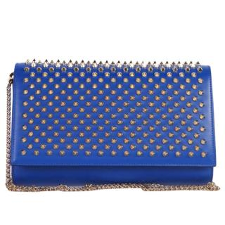 Christian Louboutin Paloma Fold-Over Spike Clutch Bag