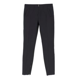 Tom Ford Black Zipped Cuff Slim Leg Tapered Trousers
