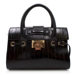Jimmy Choo Black Eel Rosalie Bag