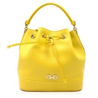 Salvatore Ferragamo Yellow Leather Mille Bag