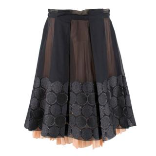 Celine Sheer Circle A Line Skirt