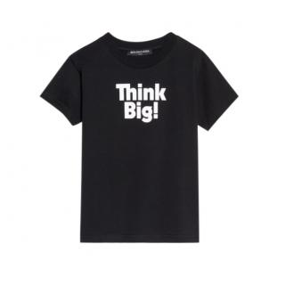 Balenciaga Kids Think Big Unisex Black T Shirt