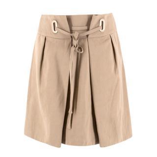 Chloe Beige Tie Up Skirt