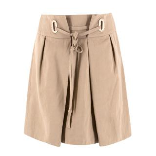 Chloe Beige Tie Up Skirt