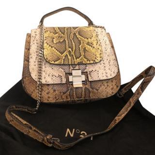 No.21 Python Shoulder Bag