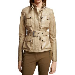 Belstaff Triumph Belted Leather Jacket