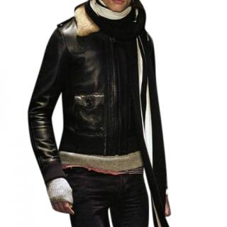 Dior Homme Leather Jacket W/ Shearling Collar