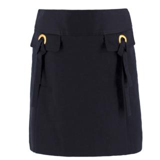 Dolce & Gabbana Black Pocket Detail Mini Skirt