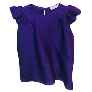Yves Saint Laurent Silk Purple Top