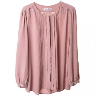 Filippa K pink silk blouse