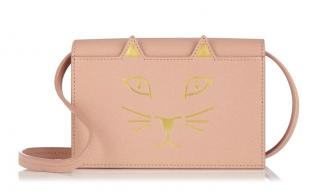 Charlotte Olympia Blush Small Feline Shoulder Purse