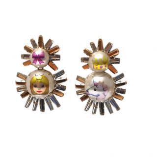 Bijoux De Famille Princess & Unicorn Emoticon Earrings