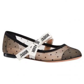Dior miss J'adior polka dot flats