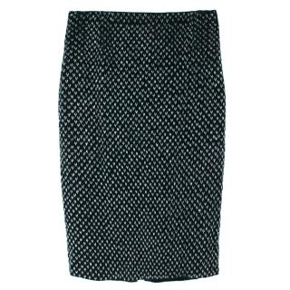Loro Piana Dark Emerald Embellished Velvet Skirt