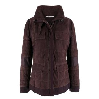 Yves Saint Laurent Purple Leather Suede Jacket