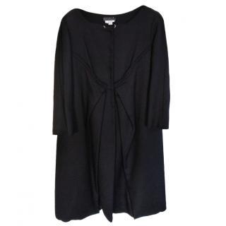 Alberta Ferretti cotton black winter coat