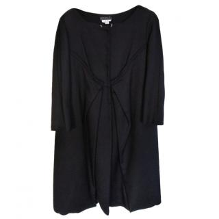 Alberta Ferretti cotton black winter coat