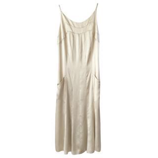 Chanel pale gold silk dress