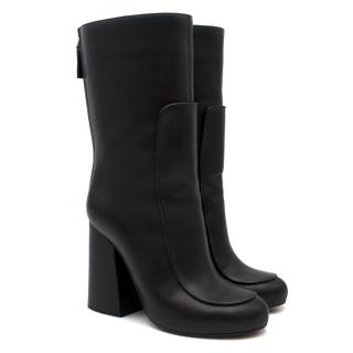 Victoria Beckham Black Leather Calf Boots