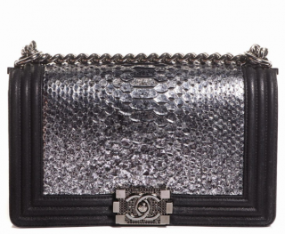 Chanel Limited Edition Python Boy Bag