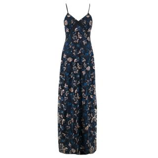 Self Portrait Eva Embroidered Slip Gown