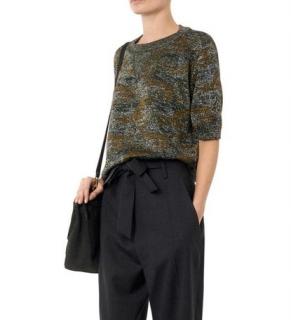 Isabel Marant Watson Camo Lurex Knit Top