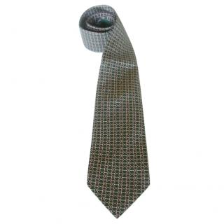 Hermes Green Barbell Motif Neck Tie