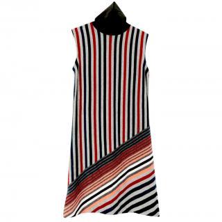 Louis Vuitton Wool & Cashmere Striped Knit Sleeveless Dress