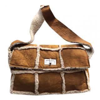 Chanel Shearling Shoulder Bag
