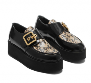 Mulberry Buckle Monk Shoes
