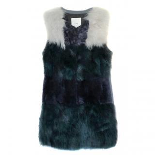 Pinko patchwork fur vest
