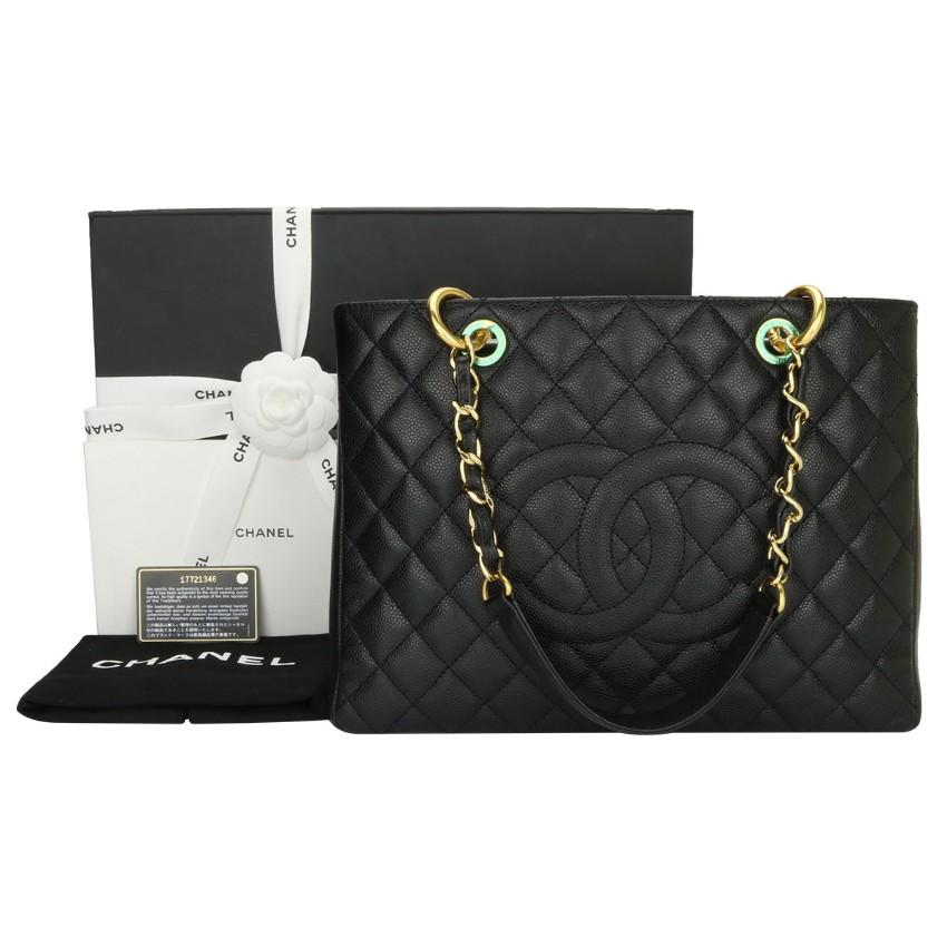 18ebb951028f3f Chanel Grand Shopping Tote Black Caviar Gst | HEWI London
