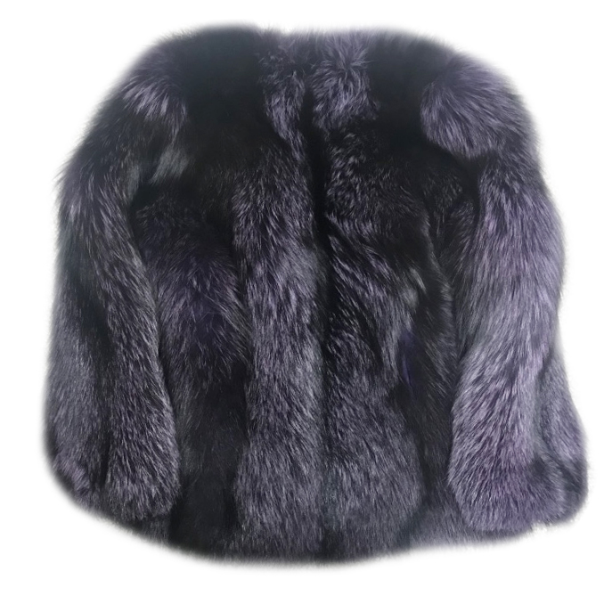 Lilly e Violetta Purple fox fur jacket