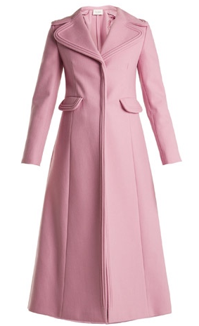 Valentino long pink wool coat