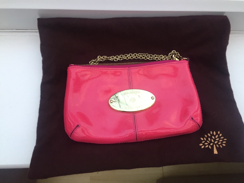 Mulberry Pink Patent Charlie Clutch Bag. 22. 12345678910 c99f5ac4ba313