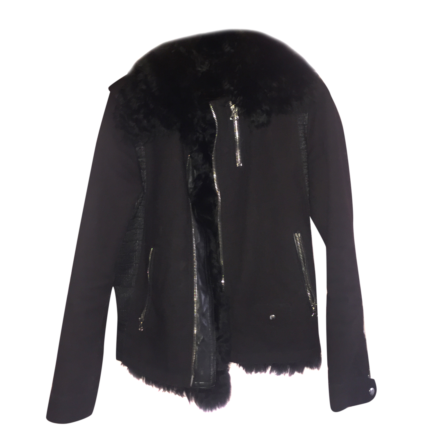 Lanvin Leather Fur Jacket