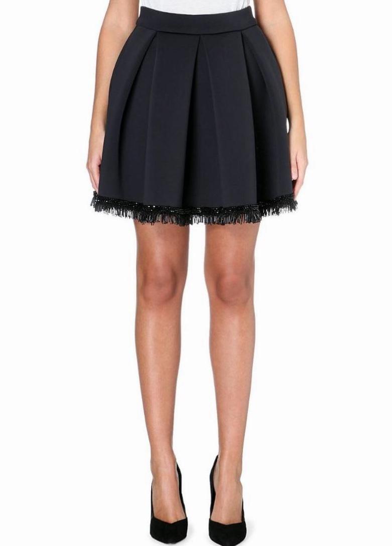 Maje 'Jalouse' Bead-Embellished Neoprene Skirt