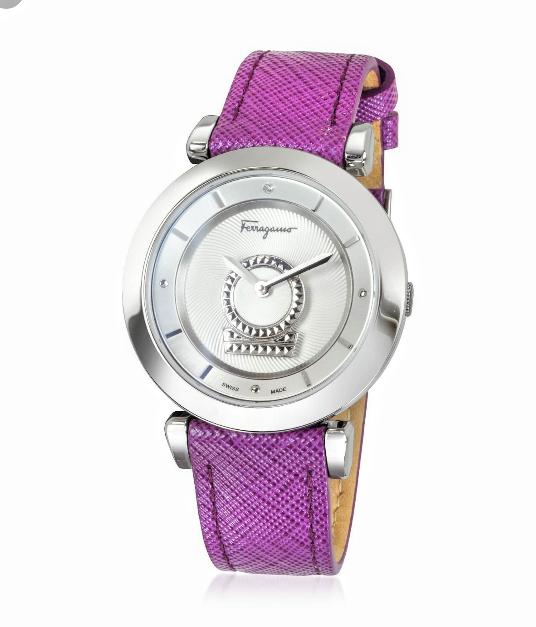 Salvatore Ferragamo scratch resistant crystal sapphire watch