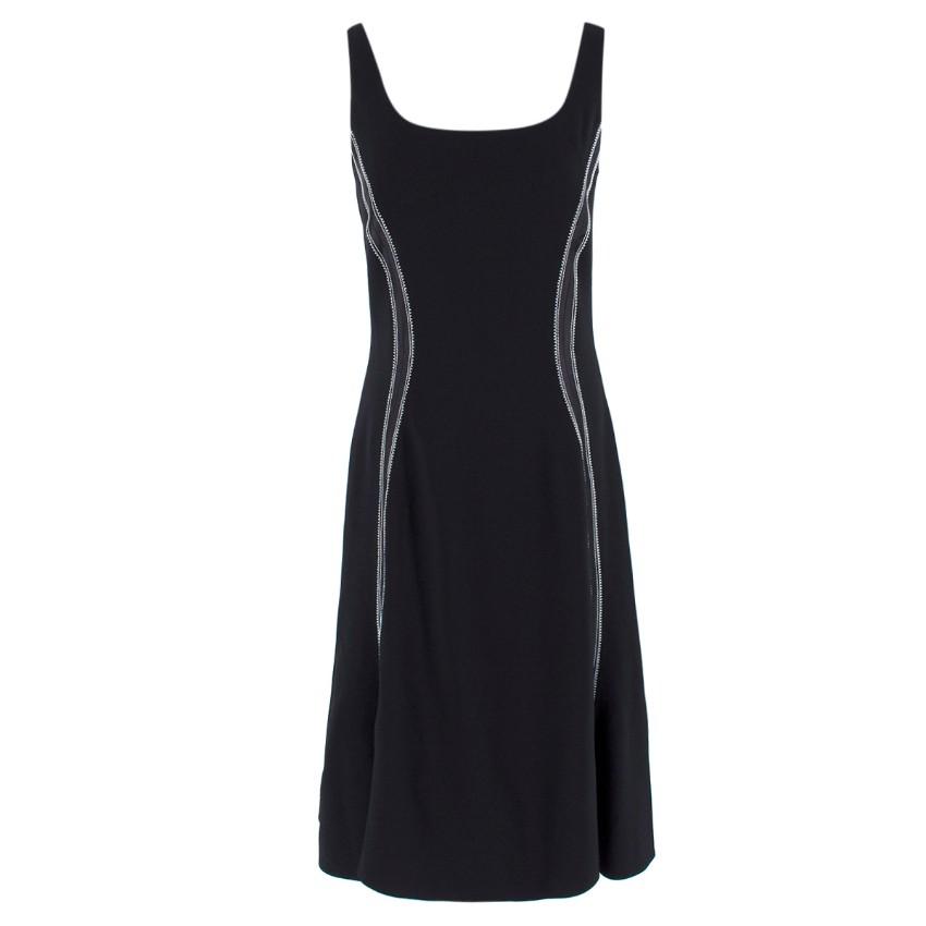 Altuzarra Black Contrast Stitch Dress
