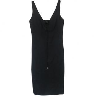 Gucci Black Tie-Front Little Black Dress