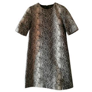 Max Mara Pianoforte animal print embossed dress