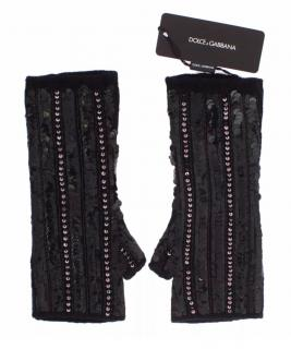 Dolce & Gabbana cashmere sequined gloves