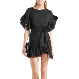 Isabel Marant etoile Delicia ruffled linen mini dress