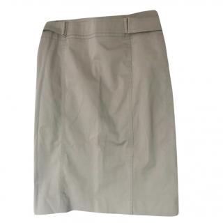 Gucci beige cotton skirt