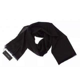 Dolce & Gabbana black cashmere scarf