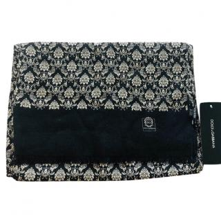 Dolce & Gabbana cashmere baroque print scarf